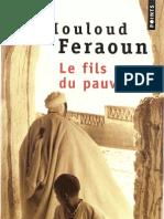 Mouloud Feraoun - Le Fils Du Pauvre