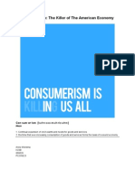Consumerism Essay Revised Laatste Versie