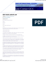 NEW SAUDI LABOUR LAW » Expat Corner GCC