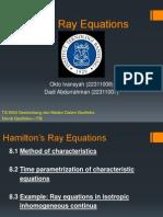 Hamilton's Ray Equations (Penurunan Rumus)
