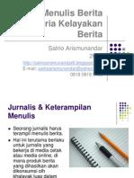 Presentasi - Teknik Menulis Berita, Maret 2012