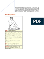 Yogasanas Basic