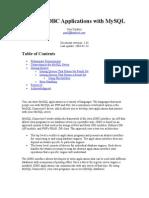 Writing JDBC Applications With MySQL
