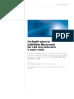 Five Best Practices for Social Media Measurement