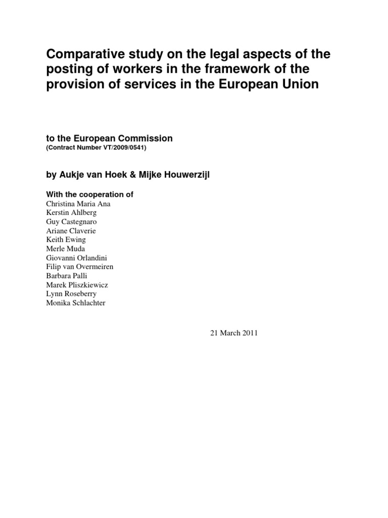 Legal Study PWD | Member State Of The European Union | Employment