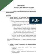 Propuesta Movimientos Social Por la Región de Aysén