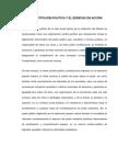 LA CONSTITUCIÓN POLÍTICA Y EL DERECHO EN ACCIÓN