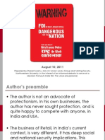 FDI in Multi-brand Retail Dangerous for India Aug 10, 2011