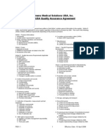 MED USA Quality Assurance Agreement