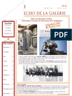ECHO DE LA GALERIE N° 20