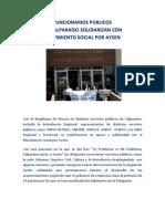 FUNC. PÚBLICOS DE VALPARAISO SOLIDARIZAN CON MOV. SOCIAL POR AYSEN