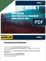 oeticket Affilate Programm - Modul 1 (kostenfrei)