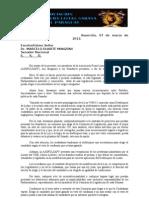 Nota entregada a miembros de la Comision de Legislación 07-03-12