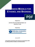 Business Models for Ethanol Production