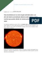 Tormentas Solares y Salud