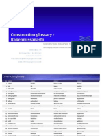 Construction Glossary in 4 Languages