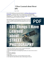 101 Things I Have Learned About Street Photography