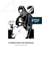 Foundations for Marriage Study