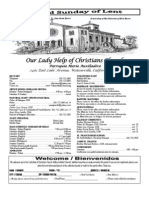Parish Bulletin for March 11, 2012