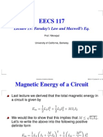 Lecture 19 Faraday's Law and Maxwell's Eq.