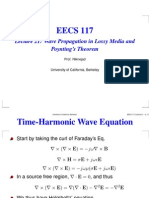 Lecture 21 Wave Propagation in Lossy Media and Poynting's Theorem