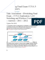 ESwitching Final Exam CCNA 3 4-2012