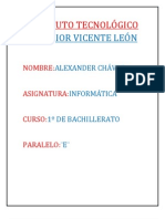 INSTITUTO TECNOLÓGICO SUPERIOR VICENTE LEÓN