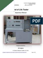 End Life Tester Manual