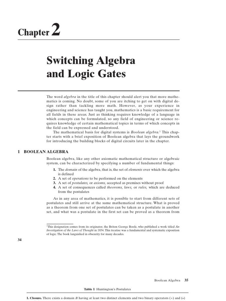 Is Pat 2 Boolean Algebra Axiom Small Integratedcircuitso Medium Scaleintegrated Circuitso Large