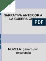 Narrativa española anterior a la guerra civil