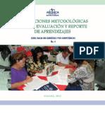 ORIENTACIONES METODOLOGICAS PARA LA EVALUACION Y REPORTE DE APRENDIZAJES. PANAMA MEDUCA