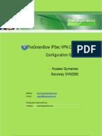 Huawei Secoway SVN2260 VPN Gateway & GreenBow IPsec VPN Software Configuration