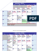 PSC GBS Financial Management Calendar for 2016