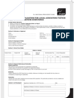 Withdrawal Application Education Form