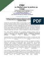 Femmes des medias pour la Justice au Congo, au pas de la celebration de la semaine mondiale d'action contre la violence armee