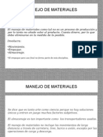 Manejo de Materiales - Principios