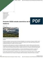 07-03-12 Presenta CIEDD estudio electrónico de Economía y Gobierno