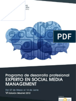PDP Experto Social Media Management Unidad Editorial