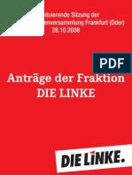 Anträge Fraktion DIE LINKE StVV 28.10.2008