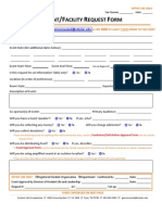 Event Facility Request Form
