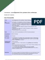 programme de la formation LINUX EMBARQUE mecatronique INSAT