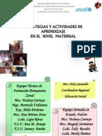 Estrategias y Actividades de Maternal