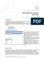 Resumen de Uso de Matlab