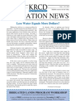 September - October 2007 Irrigation Newsletter, Kings River Conservation District Newsletter