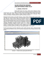 Analisis Struktur Dengan Etabs