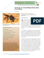Sustainable Approach to Controlling Honey Bee Diseases and Varroa Mites
