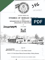 Dynamics of Wheeled Vehicles