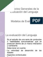 Aspectos Generales de la Evaluación del Lenguaje 6o sem