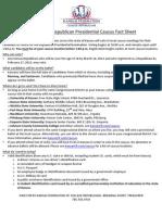 2012 Kansas Republican Presidential Caucus Fact Sheet