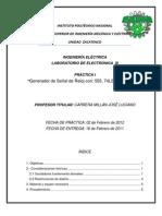 GENERADOR DE SEÑAL DE RELOJ CON 555 74LS14 Y 74LS132